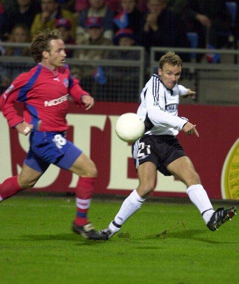 På hver sin back? For sju år siden spilte Ståle Stensaas mesterliga mot Helsingborg og Stig Johansen. Til neste år kan de komme til å bekle hver sin backplass i Glimt.Foto: Terje Pedersen, ANB