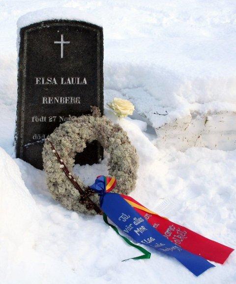 ikon: Elsa Laula Renberg er gravlagt på Dolstad kirkegård.