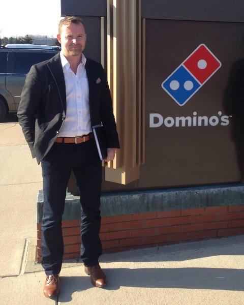 Michael Rask i Domino's er klar for å etablere fem til syv utsalgssteder i Bergen innen tolv til atten måneder.