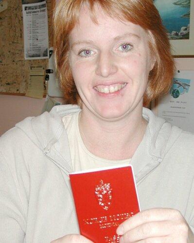 firdaav@online.no LENGRE VENTETID: Beathe Leirgulen ved Bremanger lensmannskontor fortel at ventetida for pass no er 10-12 dagar. (Foto: Annbjørg Hauge Nygård)