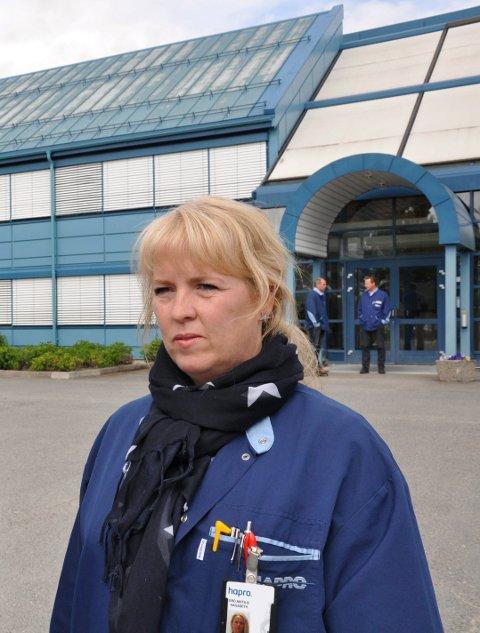 TILLITSVALGT: Gro Anita Hagaseth, tillitsvalgt for Fagforbundet på Hapro. Arkivfoto: Annika Birkelund
