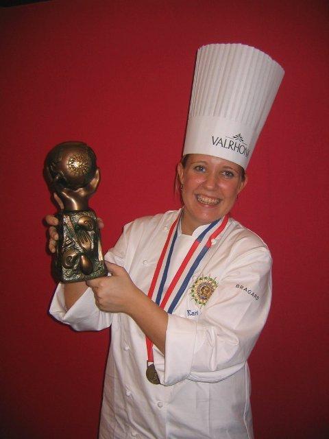 Kari Innerå var eneste jente - og den yngste av alle deltagere. Men hun vant gull!
