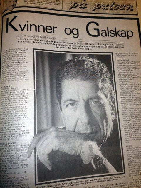 Slik så avissiden ut 4. mai 1988.