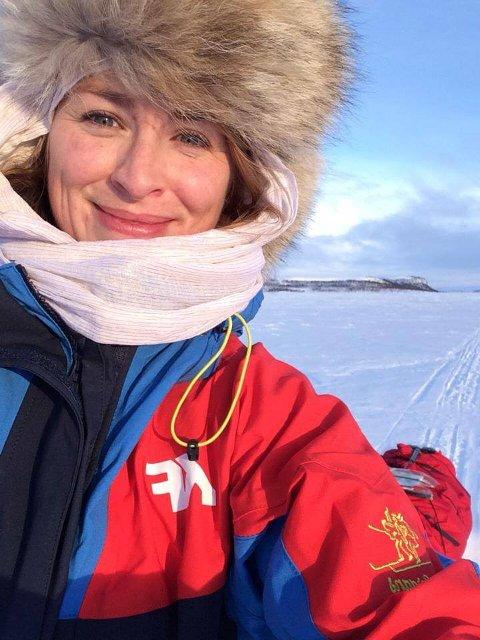 Runhild Olsen har bestemt seg for å gå over Finnmarksvidda.