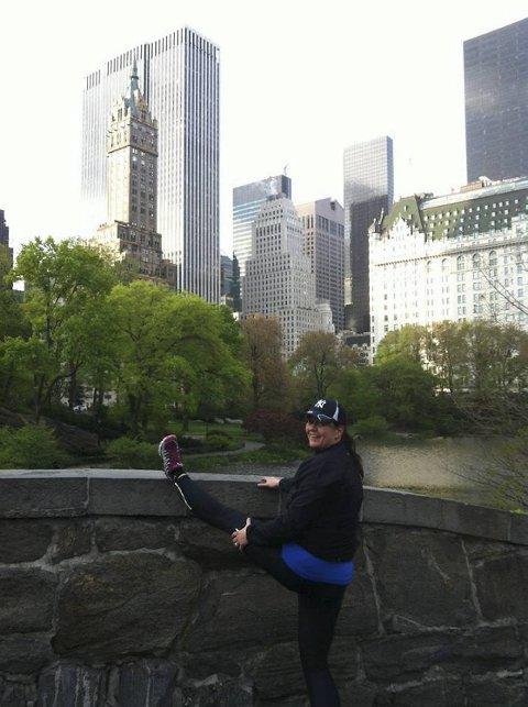 MARATON: For to år siden begynte Karin Lampe å løpe maraton og nå gleder hun seg til årets løp i september.