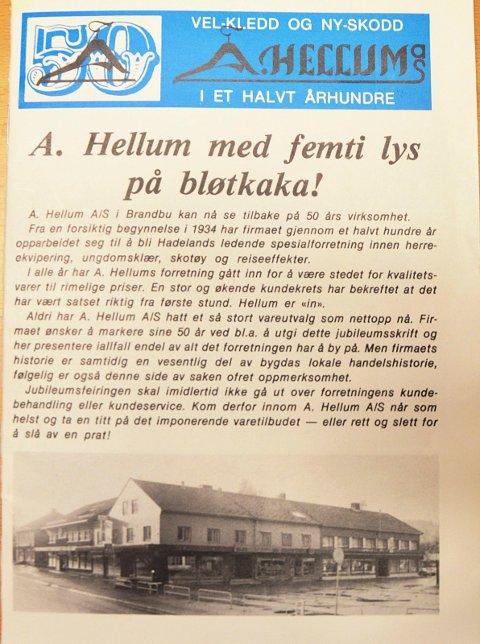FORSIDE: Heftet som ble utgitt i forbindelse med 50-årsjubileet.