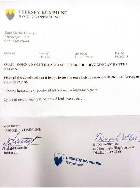 GODKJENT: Lebesby kommune godkjente byggesøknaden.