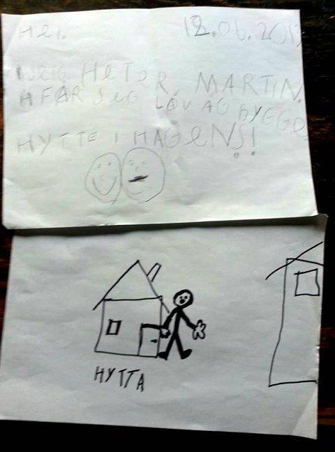 SØKNAD: I en tosiders søknad ber Knut Martin Lauritsen om lov til å bygge hytte.