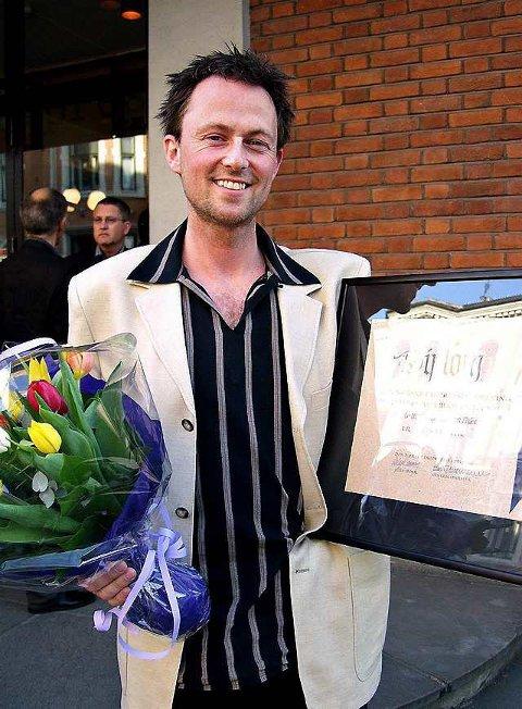 Satt pris på: Torgeir W. Skancke (35) fra Larvik har fått Fagpressens journalistpris.