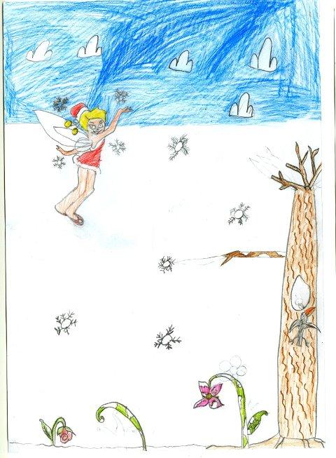 tingeling: Silje Granum Holm (8 år) fra Raufoss har sendt oss denne flotte tegningen av Tingeling. Hun skriver at hun aldri har hatt sine tegninger på trykk i avisen. Nå ble det endelig din tur, Silje, og tusen takk for tegningen!