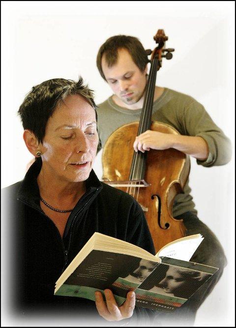 SAMARBEID  Utrolig utfordrende og givende, sier lyriker Liv Lundberg om samarbeidet med cellist Bernt Simen Lund. Torsdag uroppfører de forestillinga «Bilde av et menneske».