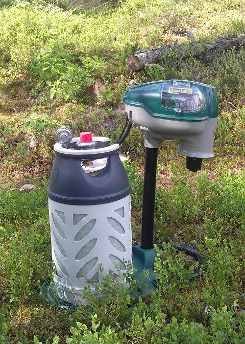 DREPER MYGG: Denne maskinen skal kunne drepe opp mot 12000 mygg i døgnet ved å blant annet etterligne menneskelig ånde og lukten av hud.