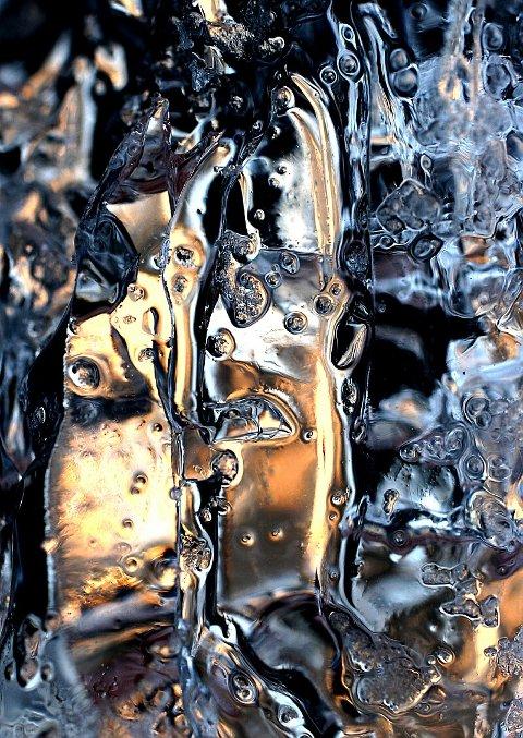 KNALLSKARPT. Her eit litt kaldare motiv. Men imponerande skarp og fantastiske mønster. Foto: Reidar Karlsen.
