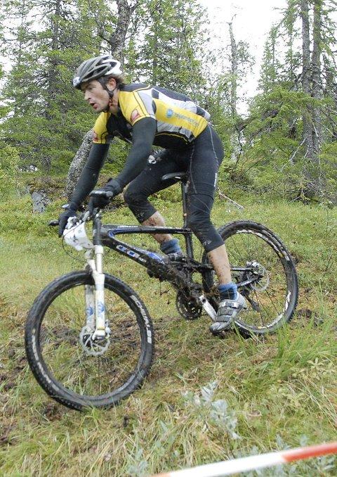 VINNER: Yngvar Hansen var raskeste mann i offroadklassen også under årets Blåvegenritt fra Umbukta ned til Mo sentrum.