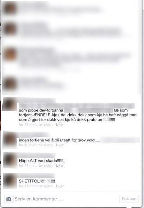Meldinger: Utdrag fra meldingen på Facebook.