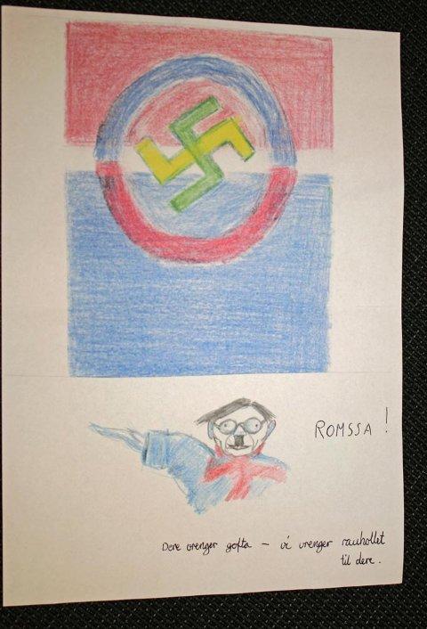 Her er tegningen Tromsø Sameforening mottok.