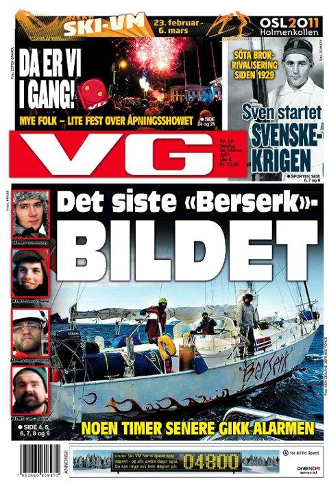 «Berserk»-tragedien fikk store opplsag. Her fra VG 24. februar 2011.