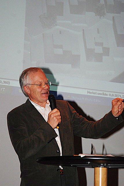 Prosjektleder i Holmenutbyggingen, Kjell Hugo Haugen var svært tilfreds etter den positive responsen fra publikum.
