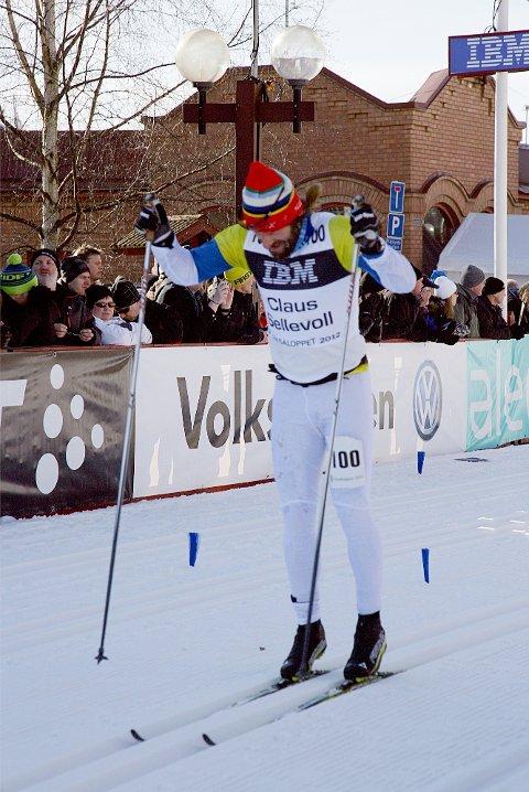 TOPPLØP: Claus Sellevoll leverte eit nytt sterkt løp, denne gongen heldt det til 12.plass i klasse 35-39 og 64.plass totalt.