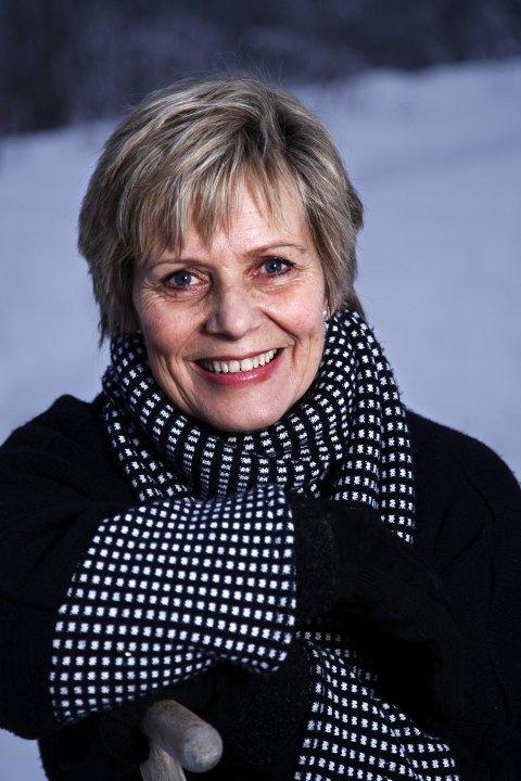 """VETERAN I TV: Ragnhild Sælthun Fjørtoft på Lørenskog blir hedret som kulturminne for sine 40 år som programvert i tv-programmet """"Store Studio"""" på NRK1 i kveld. FOTO: GEIR EGIL SKOG"""