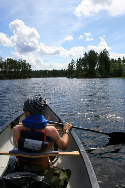 SLAKT LIV: Når først kanoen er utpå, er det ingen grunn til å stresse.