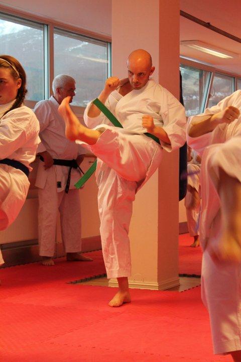 TEKNIKK: Teknikk er viktig i karate.