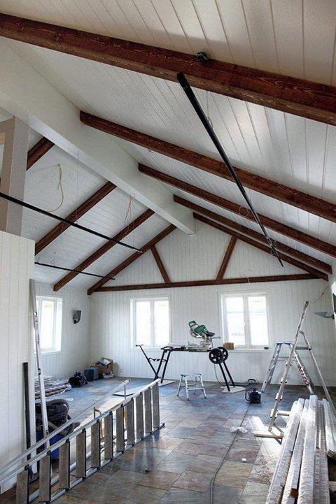 NYVASKET: Tømmeret i Sundbytunet er rent. Hver stokk er nemlig vasket og tørket på Gaustad.