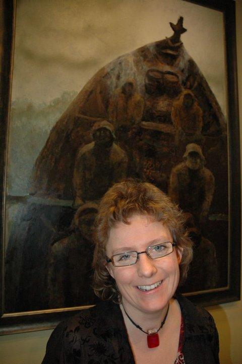 Forfatteren Linda Lillevik mener Kaare Espolin Johnson malte eventyrlig. Foto: Inger Anne Lillebø