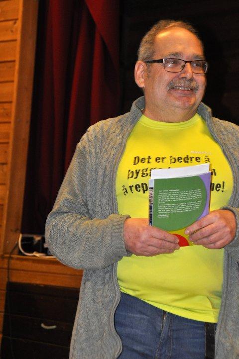 """Med mottoet """"Det er lettere å bygge barn enn å reparere voksne"""", presenterte Arild Bjørnstad  Lions' arbeid for barn og unge."""