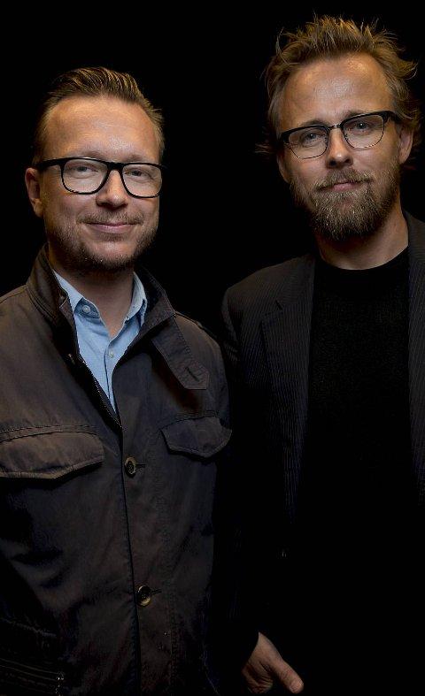 HAUGESUND  20120818.Regissørene Joachim Rønning (til høyre)  og Espen Sandberg under pressekonferanse i forbindelse med Kon-Tiki filmen under filmfestivalen i Haugesund lørdag.