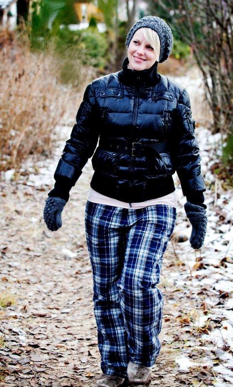 LIVSGLEDE: Mette Høvern er fortsatt ikke arbeidsfør, men prøver å gå en liten tur hver dag.