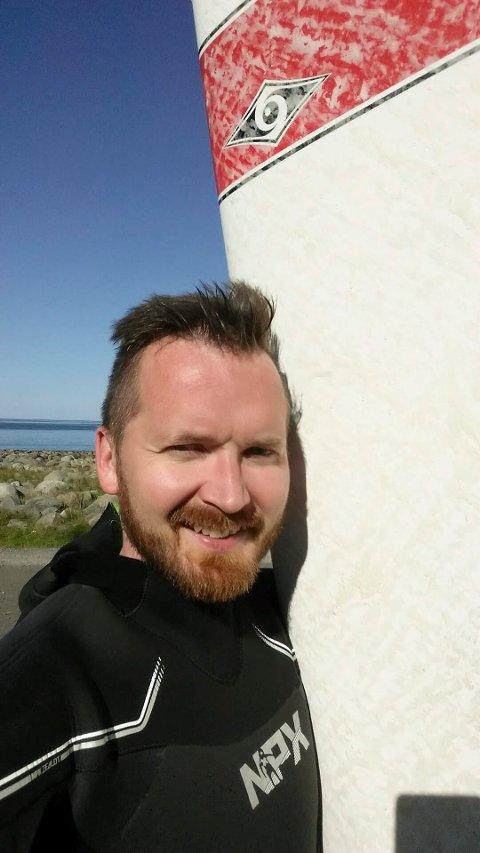 Vinner: Markus Jäntti er vinneren av kursplass ved Arctic Kite Camp. Foto: Privat