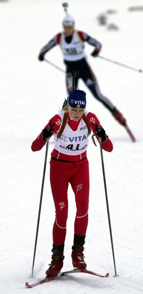 STORTALENT: Julie Bonnevie-Svendsen fra Nittedal SSL ble nummer to i juniorklassen da europacupen i skiskyting åpnet på Geilo i går ettermiddag. FOTO: TERJE PEDERSEN, ANB