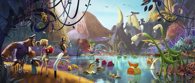 «Det regner kjøttboller 2» tangerer forgjengeren når det gjelder fantasifullt design, fargesprakende miljøer og artige figurer.