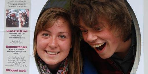 Marte Røe Nåvik (17) og Are Kvikstadhagen (17) fra Lillehammer.