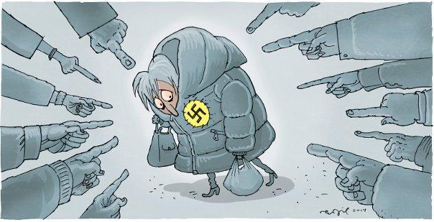 """IDENTIFISERING: Alle som løp nazistenes ærend, blir identifisert i trilogien """"Nådeløse nordmenn""""."""