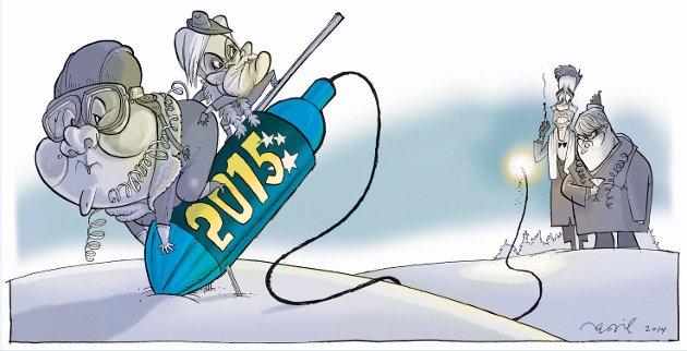 ANNUS HORRIBILIS 2014: Med ønske om et bedre blåblått 2015.