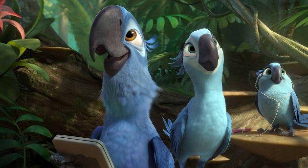 I «Rio 2» er fugleparet blitt foreldre, med de utfordringene det gir.