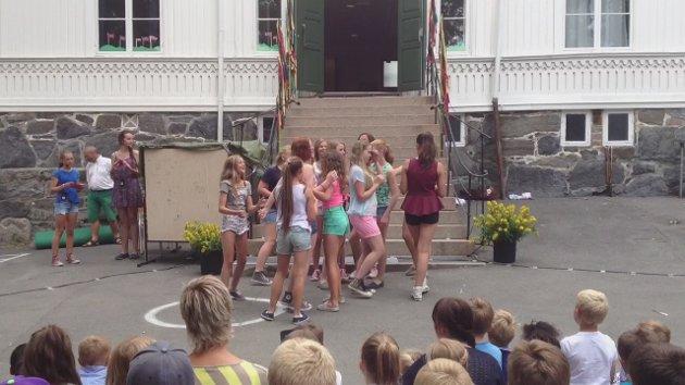 Skoleavslutning jentene i 7. klasse