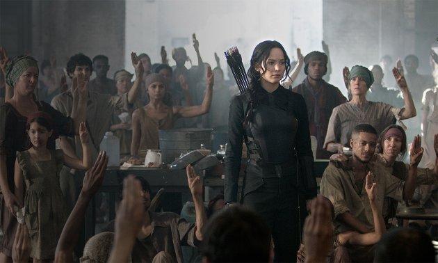 Jennifer Lawrence i The Hunger Games:Mockingjay Part 1.
