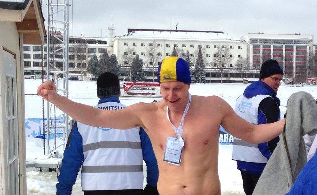 Per Christian Gundersen Tromsø Svømmeklubb Bb leder sin klasse.