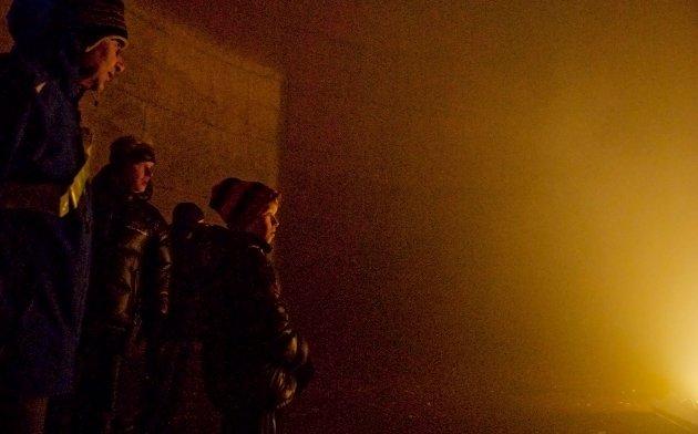 Fra konserttanken, der lys, mørke og røyk utfordret sansene.