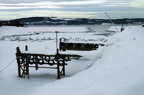 Tomme båtplasser ved Mjøsa.