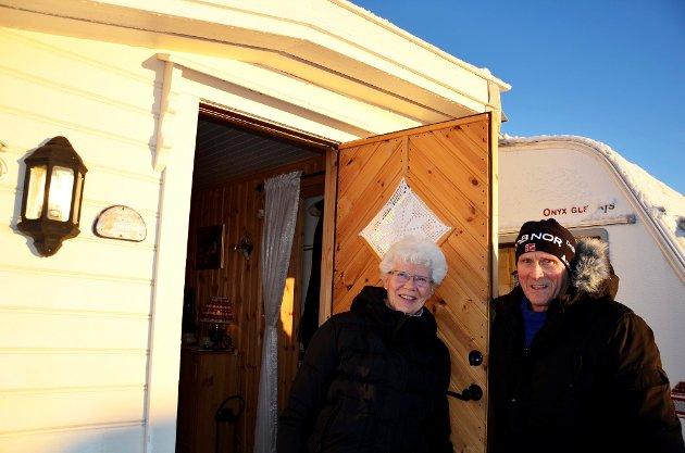 Gunnar Westby og Astrid Jacobsen fra Sørumsand stortrives på Sjusjøtunet.