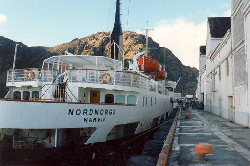 """Alle bildene er tatt i Stamsund. Her er det """"Nordnorge"""" som ligger til kai."""
