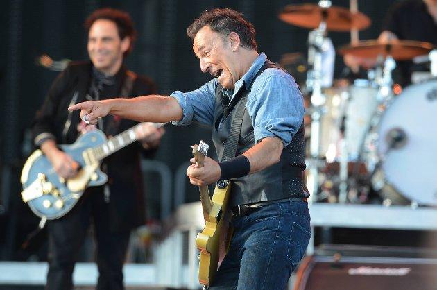 Bruce Springsteen i storform på Valle Hovin lørdag.