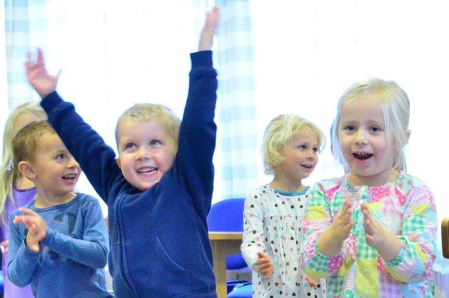 Sanggleden er det ikke noe å si på i Bjørkly barnehage.