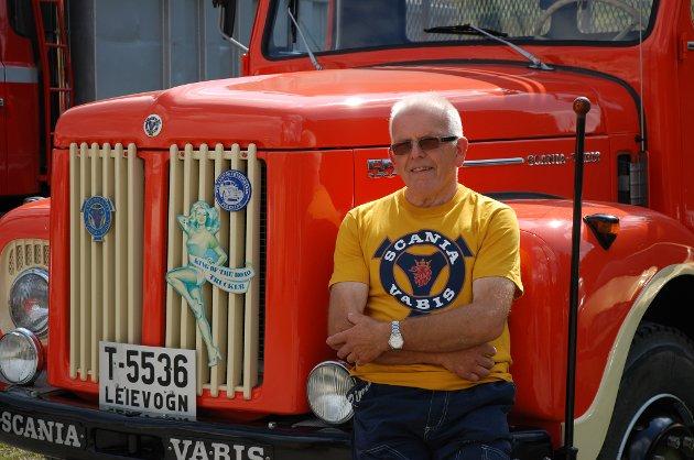 Per Arne Granum fra Tobru i Bybrua viste fram en Scania L55 fra 1962. Han forteller at dette opprinnelig var en militærbil.