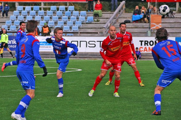 Kim André Råde og resten av TUIL-spillerne misbrukte mulighet til tre poeng mot Sandefjord i dag.