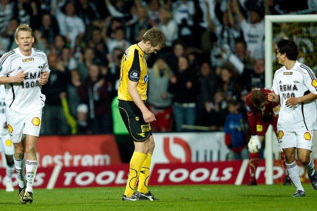 DEPPA: Frode Kippe i et dårlig øyeblikk under 1-2 kampen mot Rosenborg.  ALLE FOTO: GEIR EGIL SKOG